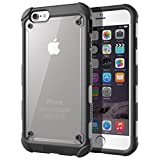 iPhone 6 Plus / iPhone 6S Plus Case - Poetic [Affinity Series] - [TPU Grip Bumper] [Corner Protection] Protective Hybrid Case for Apple iPhone 6 Plus (2014)/iPhone 6S Plus (2015) Black (3 Year Manufacturer Warranty From Poetic)
