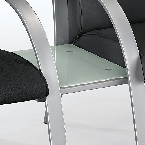 Symphony Connector Table Tempered Frosted Glass/Silver (Symphony Metal Bed)
