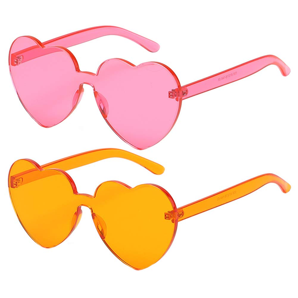 Heart Shaped Hippy Glasses - choice of colours