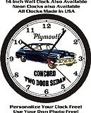 1952 PLYMOUTH CONCORD TWO DOOR SEDAN WALL CLOCK-FREE USA SHIP!