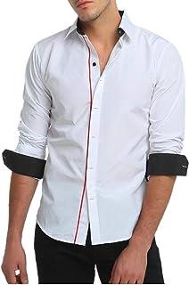 Betrothales Maglione Uomo Camicia Colletto Uomo Slim Colletto Maglioni Camicia