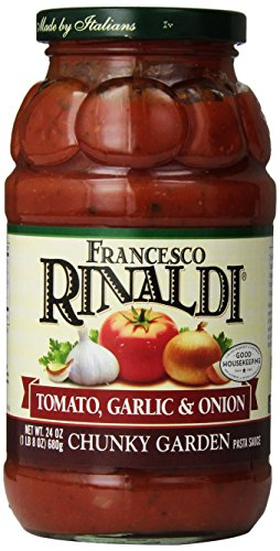 Francesco Rinaldi Chunky Garden Tomato, Garlic & Onion Pasta Sauce-24 OZ (Cheese Pasta Sauce compare prices)