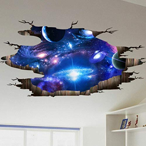 MOMIKA Wall Mural,Floor Wall Stickers 3D Removable Ceiling Wallpaper Decals Decoration for Room Stair Nursery (B) for $<!--$2.99-->