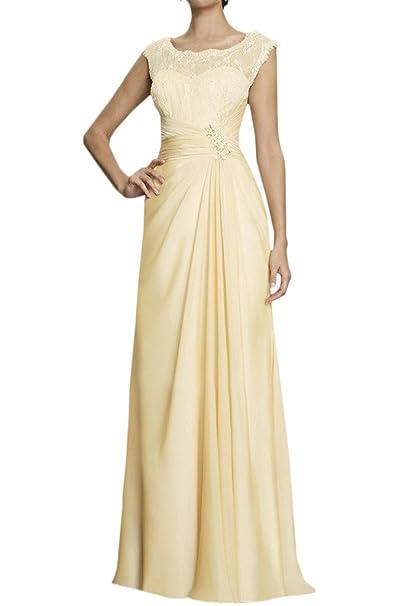 Toscana noche de novia elegante Ropa larga gasa con punta Fiestas Ball Ropa amarillo 2 mes