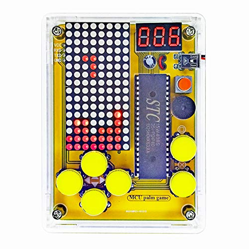 DIY Soldering Project Game Kit Retro Classic Electronic Soldering Kit, Tetris/Snakes/Race Cars/Space Invaders/Slot Machine with Clear Acrylic Case