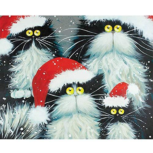 Pintura por números Bricolaje DIY Pintura al óleoImpresión de la lona Mural Decoración hogareña -Gato
