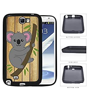 Koala Bear Hanging From Tree Branch Rubber Silicone TPU Cell Phone Case Samsung Galaxy Note 2 II N7100