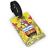 KODW12 Coat of Arms of The Malawi Luggage Tag Travel Bag Labels Suitcase Bag Tag Name Address Cards