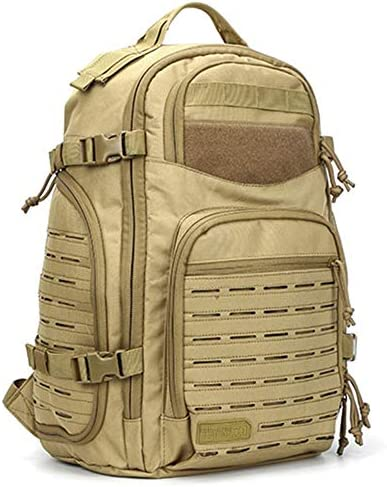 BAJIMI アウトドアハイキングキャンプ旅行45L 1000Dレーザー切断モール戦術的なユーティリティバッグ軍事リュックサック軍狩猟のためのバックパック/戦術/B