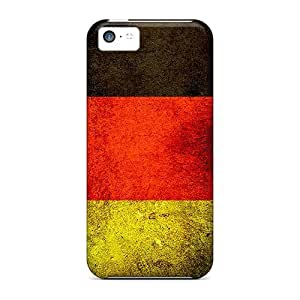 For Iphone 5c Premium Tpu Case Cover German Flag Protective Case