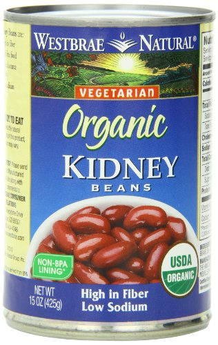 Westbrae Natural Organic Kidney Beans, 15 Ounce Cans (Pack of 12)