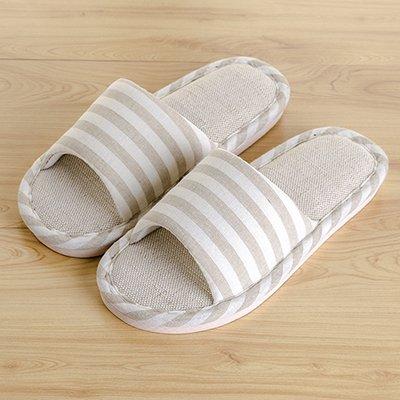 LaxBa Femmes Hommes chauds dhiver Chaussons peluche antiglisse intérieur Cotton-Padded Chaussures Slipper modèles féminins positifs40-70 kaki (code)