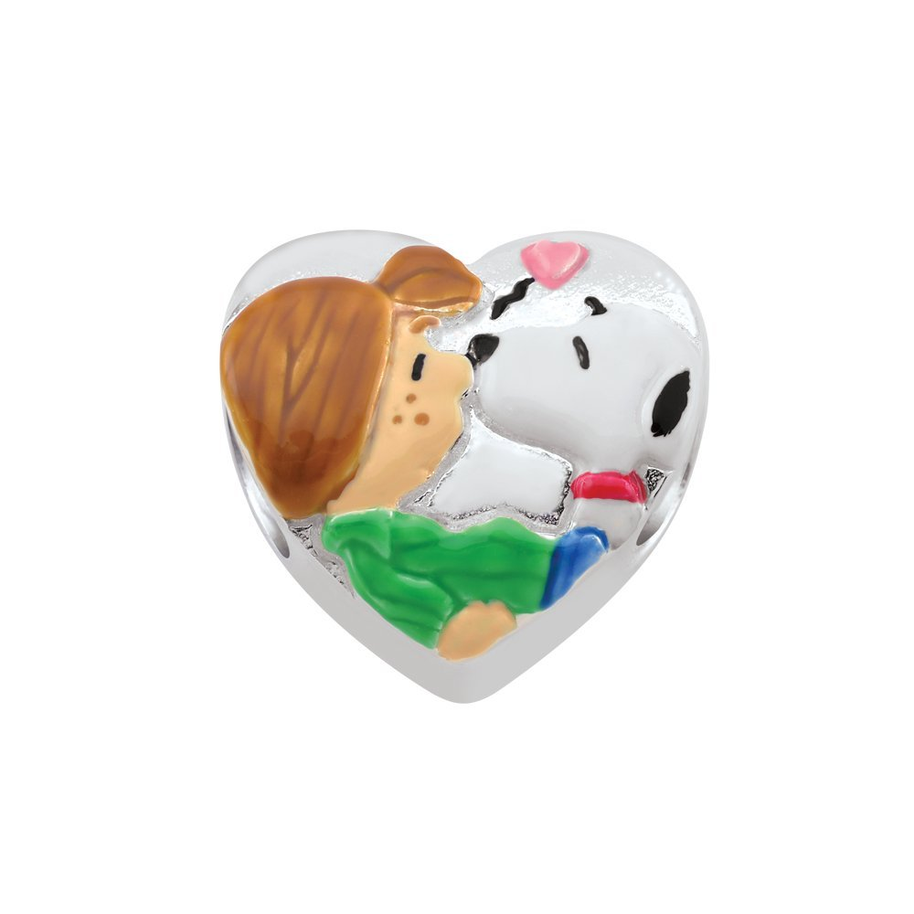 626097ec75 Persona Sterling Silver Peanuts Patty and Snoopy Bead Charm  Amazon.co.uk   Jewellery