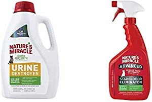 Nature's Miracle Cat Urine Destroyer & Advanced Stain & Odor Eliminator Cat Spray