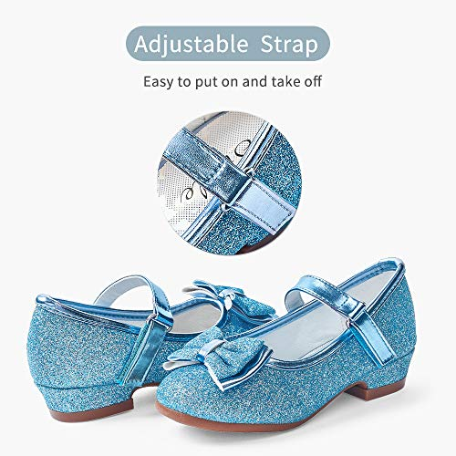 STELLE Girls Mary Jane Shoes Low Heel Party Dress Shoes for Kids