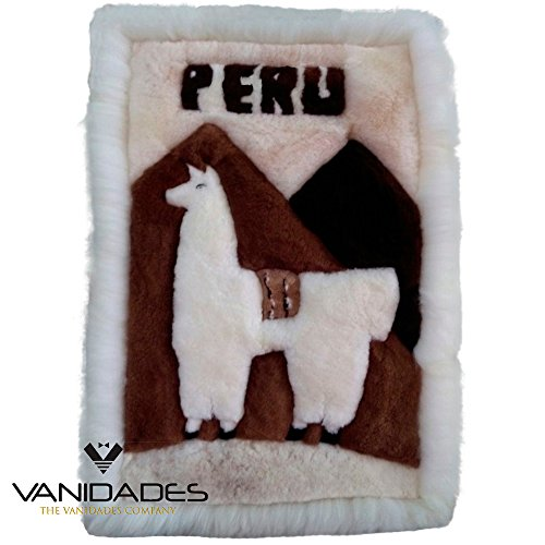 Peruvian Wall Rug - Fine Alpaca rugs to decorate the living room and wall of the home and office. Handmade. Peruvian alpaca fiber. (39' x 24' x 3') inch - (98 x 60 x 7) cm