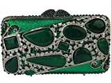 Yilongsheng Ladies New agate Evening Bags With Crystal For Wedding (Green)