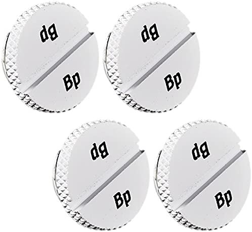 4-Pack Bitspower G1//4 Low-Profile Stop Fitting Deluxe White