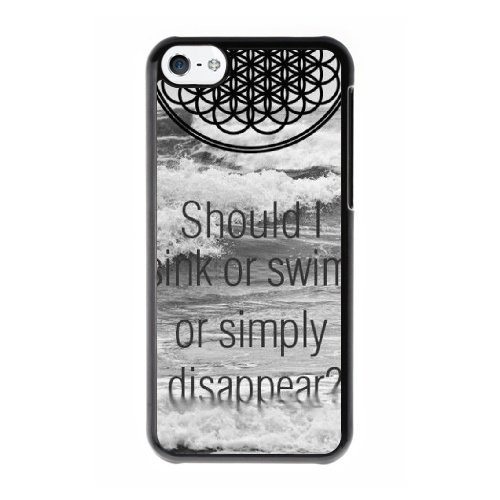 Coque,Coque iphone 5C Case Coque, Should I Sink Or Swim Or Simply Disappear Cover For Coque iphone 5C Cell Phone Case Cover Noir