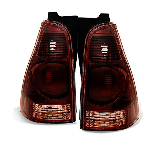 Xtune 2003-2005 Direct Fit 4Runner Smoke Red Tail Lights 2004 Pair L+R ()