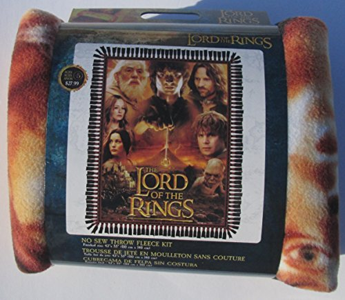 Lord of the Rings - No Sew Throw Fleece Kit - finished size 43'' x 55'' by Lord of the Rings