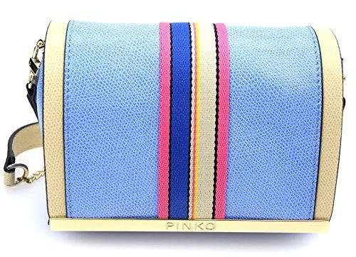 Pinko Miss Marion Mini Crossbody Bag Light Blue