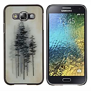 LECELL--Funda protectora / Cubierta / Piel For Samsung Galaxy E5 E500 -- Pintura árboles Arte Bosque --