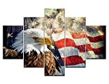 American Flag with Eagle Painting on Can