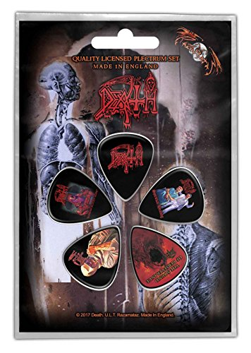 - Death Guitar Picks Album Covers Band Logo Official 5 Pack Plectrum