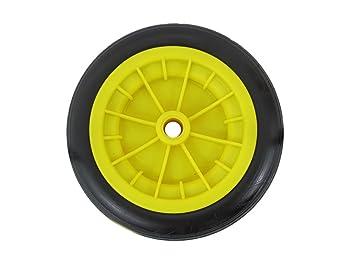 Keto Plastics - Rueda para carretilla de mano, 12 pulgadas, resistente, color amarillo: Amazon.es: Jardín