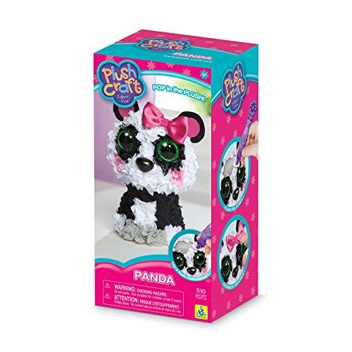 Kit Panda - The Orb Factory Panda 3D Arts and Crafts (510 Piece), Black/White/Grey/Pink, 5