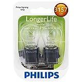 Philips 3157 Longer Life Miniature Bulb, 2 Pack