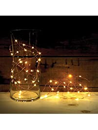2 sets of attav led string lights with timer battery operated 20 micro leds on