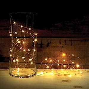 Amazon.com : 2 Sets of ATTAV LED String Lights with Timer, Battery Operated 20 Micro LEDs on 7 ...