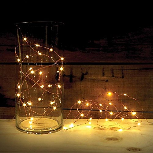 2 Sets of ATTAV LED String Lights with Timer, Battery Operated 20 Micro LEDs on 7 Feet Ultra Thin Copper Wire, Starry String Lights Fairy Lights for Bedroom Christmas Party Wedding Dancing(Warm White) (String With Lights Timer)