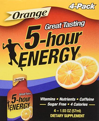 5 Hour Energy Shot, Orange, 2 Ounce, 4 Count