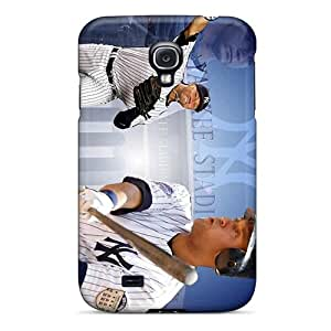AlissaDubois Samsung Galaxy S4 Shock Absorbent Hard Cell-phone Case Allow Personal Design High-definition New York Yankees Skin [IEa8230tOah]