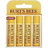 Burts Bees 100% Natural Lip Balm, Beeswax, 0.15 oz, 4 Count