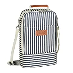 SKU: 1TRWB230STRFeatures: This beautiful this deluxe wine travel carrier cooler insulated tote bag let you put your favorite drinks to restaurants, picnic, party, beach or any other gathering occasion. It featured with shoulder strap and hand...