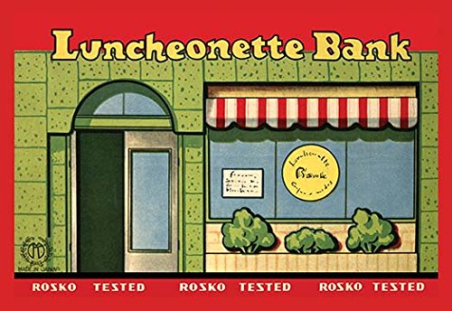 Buyenlarge Luncheonette Bank Storefront Paper Poster, 18