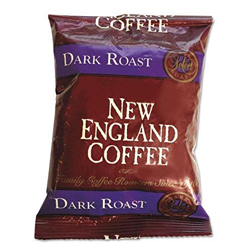 New England 026190 Coffee Portion Packs, French Roast, 2.5 oz Pack, (Reg Roast)