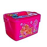 Cello Barbie Kids Toy Rectangle Plastic Multi-Purpose Storage Box, Pink
