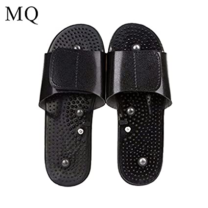 a03a179b531 Buy Electrode Massage Slippers Suit for Tens Acupuncture Therapy Massager  Machine Physiotherapy Body Foot Relaxing Black Rubber Online at Low Prices  in ...