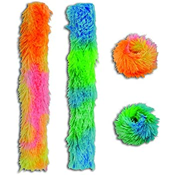 amazoncom dozen furry feather slap bracelets toys amp games