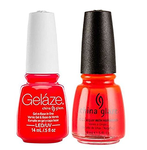 (China Glaze Gelaze Tips and Toes Nail Polish, Pool Party, 2 Count)