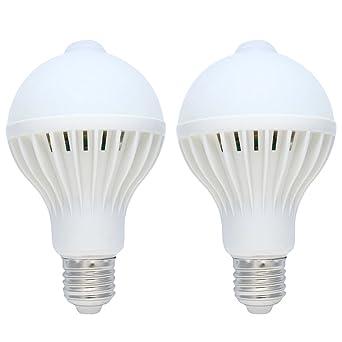 Haustürlen Mit Bewegungsmelder 2er pack 9w e27 led glühbirne mit bewegungsmelder sensor birne