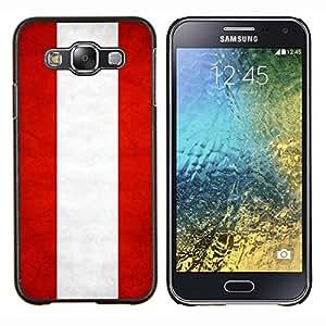 EJOOY---Cubierta de la caja de protección para la piel dura ** Samsung Galaxy E5 E500 ** --Nacional bandera de la nación País Austria