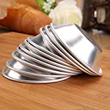 25 Pieces  Egg Tart Molds Tiny Pie Tartlets Dessert Mold Pans Tin Puto Cup Bakeware Cake Cookie Mold, Round Resuable Nonstick