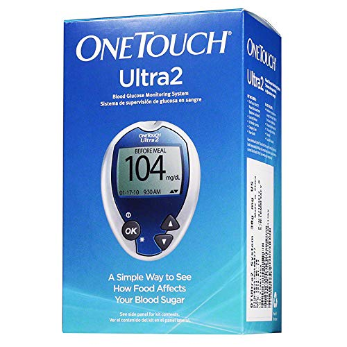 Onetouch Ultra2 Glucose Monitoring Kit with Improved Delica Plus Lancet Device