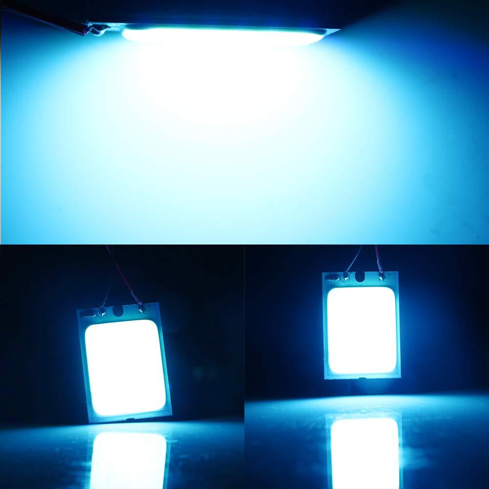 Grandview 4pcs Panel Blanco Luz LED COB de Ahorro de Energ/ía 24-SMD Luces de Techo Luces Interiores de Autom/óviles Luces de Lectura Luces de Techo con 3 Adaptadores Garant/ía de 2 A/ños